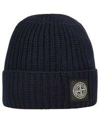 Stone Island Hat - Zwart