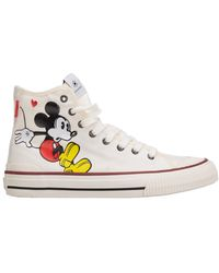 MOA High Top Trainers Sneakers Disney Mickey Mouse - Wit