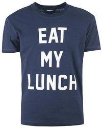 DSquared² - Eet Mijn Lunch T-shirt - Lyst