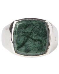 Tom Wood Marble Cushion Ring - Grigio