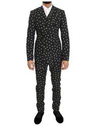 Dolce & Gabbana Schedel Print Slim Fit 3 Delig Pak - Zwart