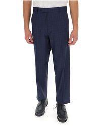 Etro Checked trousers - Bleu