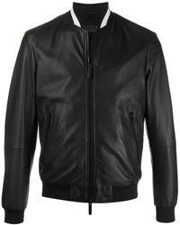 Emporio Armani Jackets Leather Jacket - Zwart