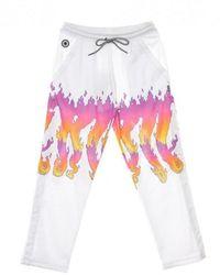 Octopus W Flames Tp Suit Pants - Wit