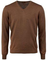 Stenströms V-neck knitwear - Marron