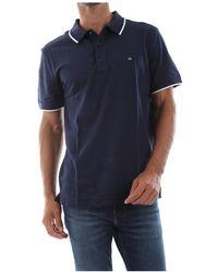 Calvin Klein Refined Piquet Polo - Blauw