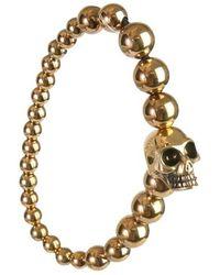 Alexander McQueen Skull Bracelet - Geel