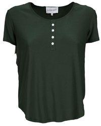 Silvian Heach T-shirt con bottoni a dettaglio Verde