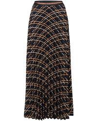 summum woman 6s1124-11087 Plisse Skirt - Zwart