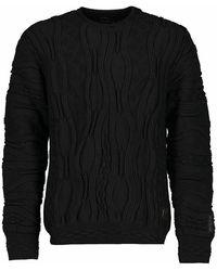 carlo colucci Sweatshirt C10903 - Zwart