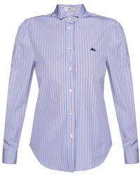 Etro Shirt with band collar - Bleu