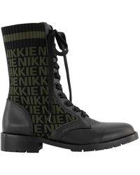 NIKKIE Diora jacquard boots - Noir