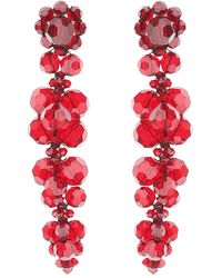 Simone Rocha Earrings With Crystals - Rood