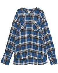 Greg Lauren Classic Studio Palmetto Flannel Shirt - Bleu