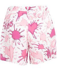 Love Moschino Wo157-80-T110A Mini shorts Rosa