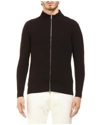 Tagliatore Water Repellent Jacket Sweater - Bruin