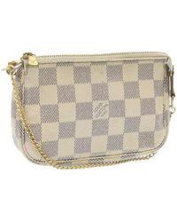 Louis Vuitton Gebruikte Pochette-accessoires - Wit