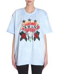 Amen Oversize FIT T-Shirt - Bleu