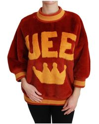Dolce & Gabbana Queen Crown Pullover - Rosso