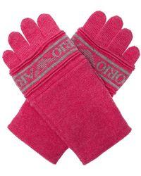 Emporio Armani Logo gloves - Rose