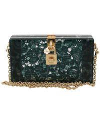 Dolce & Gabbana Green Taormina Lace Clutch Tas Purse - Groen