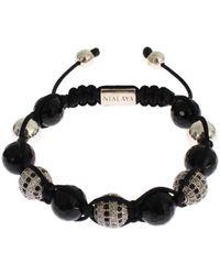 Nialaya Agate Bracelet - Noir