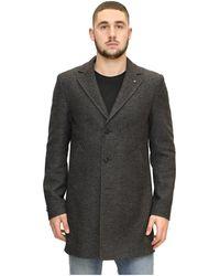 Manuel Ritz Classic Single-breasted Coat - Grijs