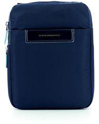 Piquadro Expandable Celion Ipad Mini Bag - Blauw