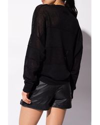 DIESEL Linen sweatshirt - Schwarz