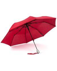 Piquadro Windproof Mini Automatic Umbrella Rojo