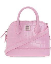 Balenciaga Shoulder Bag With Logo - Roze