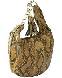 Gucci Sienna Snakeskin Hobo Bag - Naturel