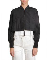 T By Alexander Wang Habotai bomber jacket - Nero