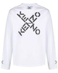 KENZO T-shirt Mm Giro - Wit