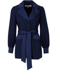 Diane von Furstenberg Stassie crepe jacket - Blu
