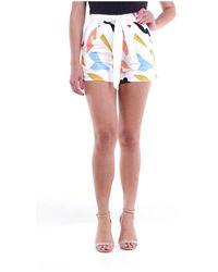 Glamorous In1547 Mini Shorts - Bianco