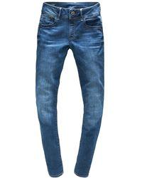 G-Star RAW D06746-6553-A889 Lynn Mid Skinny - Blau