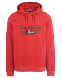 Napapijri Berthow hoodie - Rojo
