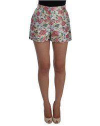 Dolce & Gabbana Shorts in broccato floreale - Rosa