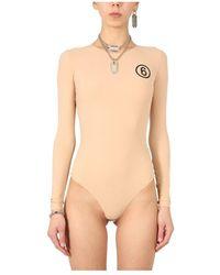 MM6 by Maison Martin Margiela - Bodysuit With Logo - Lyst