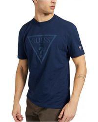 Guess T-shirt à gros logo 3D - Blu