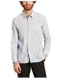 Universal Works Micro striped cotton shirt - Blu