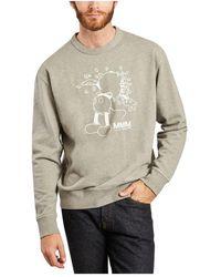 WOOD WOOD Hugo Mickey printed sweatshirt x Disney - Grigio