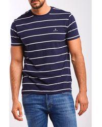 GANT - T-shirt streep 2023001 433 Azul - Lyst