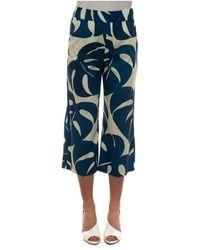 Seventy Cropped trousers - Blau