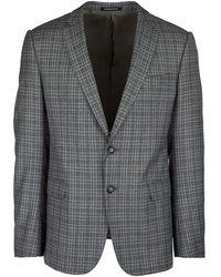 Emporio Armani Men's Wool Jacket Blazer - Grijs