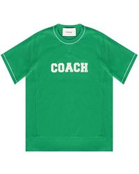 COACH T-shirt With Logo - Groen