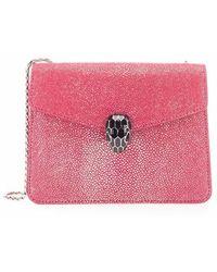 BVLGARI 288996 Leather Shoulder Bag - Roze