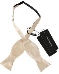 Dolce & Gabbana Slim Skinny Men Tie - Naturel