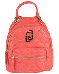 Liu Jo Matelasse Backpack With Strass - Rood